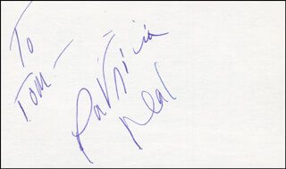 PATRICIA NEAL - INSCRIBED SIGNATURE