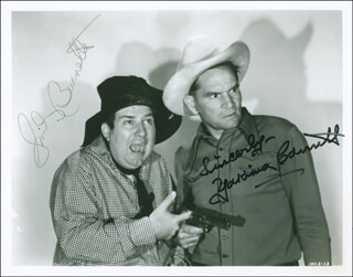 SMILEY (LESTER) BURNETTE - AUTOGRAPHED SIGNED PHOTOGRAPH CO-SIGNED BY: YAKIMA CANUTT - HFSID 299033