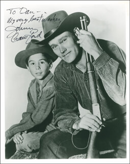JOHNNY CRAWFORD - AUTOGRAPHED INSCRIBED PHOTOGRAPH