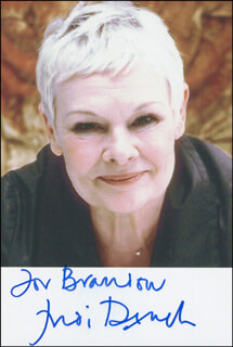 DAME JUDI DENCH - AUTOGRAPHED INSCRIBED PHOTOGRAPH