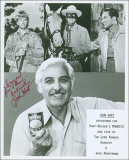 JOHN HART - AUTOGRAPHED INSCRIBED PHOTOGRAPH
