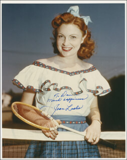 JOAN LESLIE - AUTOGRAPHED INSCRIBED PHOTOGRAPH
