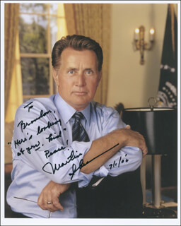 MARTIN SHEEN - AUTOGRAPHED INSCRIBED PHOTOGRAPH 07/01/2006