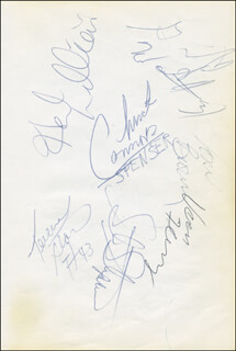CHUCK CONNORS - AUTOGRAPH CO-SIGNED BY: TERENCE STANSBURY, VERN FLEMING, TONY BROWN, STEVE STIPANOVICH, GRANVILLE WAITERS, HERB WILLIAMS, THE INDIANA PACERS