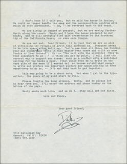 DICK HAYMES - TYPED LETTER SIGNED 09/21/1977