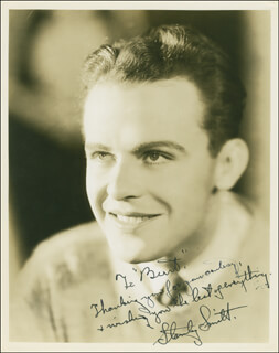 STANLEY SMITH - AUTOGRAPHED INSCRIBED PHOTOGRAPH