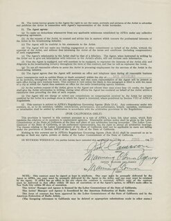 ROD CAMERON - CONTRACT SIGNED 06/12/1950