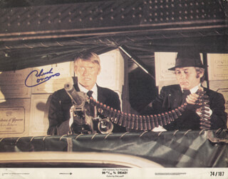 CHUCK CONNORS - LOBBY CARD SIGNED
