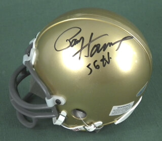PAUL V. HORNUNG - MINIATURE HELMET SIGNED