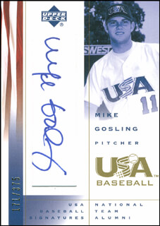 MIKE GOSLING - TRADING/SPORTS CARD SIGNED