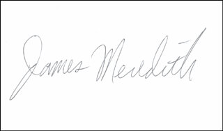 JAMES H. MEREDITH - AUTOGRAPH