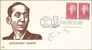CARLOS P. ROMULO - COMMEMORATIVE ENVELOPE SIGNED