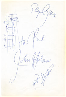SEIJI OZAWA - INSCRIBED MUSICAL QUOTATION SIGNED CO-SIGNED BY: BUCK WILLIAMS, JOSEPH SILVERSTEIN, NEW JERSEY NETS, JOHN HARBISON, DARWIN COOK, MIKE O' KOREN, MICHAEL RAY RICHARDSON