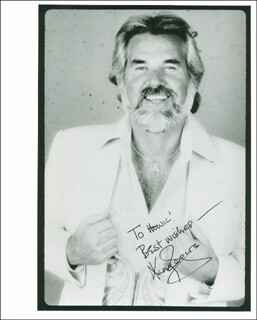 KENNY ROGERS - AUTOGRAPHED INSCRIBED PHOTOGRAPH