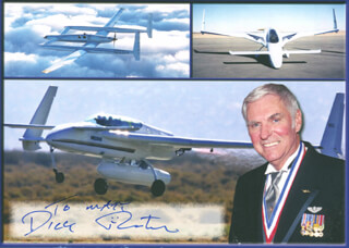 DICK RUTAN - AUTOGRAPHED INSCRIBED PHOTOGRAPH