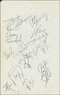 THE INDIANA PACERS - AUTOGRAPH CO-SIGNED BY: DAVE TWARDZIK, VERN FLEMING, HERB WILLIAMS, ROBERT SAXTON, MALCOLM LOWE, REGGIE MILLER, ANTHONY FREDERICK, EVERETTE STEPHENS, SCOTT SKILES