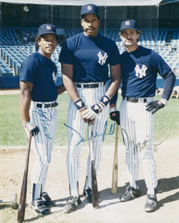 THE NEW YORK YANKEES - AUTOGRAPHED SIGNED PHOTOGRAPH CO-SIGNED BY: DAVE WINFIELD, DON MATTINGLY, RICKEY HENDERSON