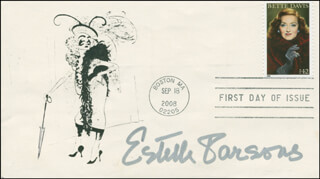ESTELLE PARSONS - FIRST DAY COVER SIGNED
