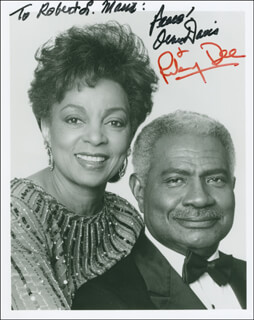 OSSIE DAVIS - AUTOGRAPHED INSCRIBED PHOTOGRAPH CO-SIGNED BY: RUBY DEE
