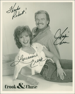 CROOK & CHASE - AUTOGRAPHED INSCRIBED PHOTOGRAPH CO-SIGNED BY: CROOK & CHASE (LORIANNE CROOK), CROOK & CHASE (CHARLIE CHASE)