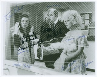 FATSO MOVIE CAST - AUTOGRAPHED INSCRIBED PHOTOGRAPH CO-SIGNED BY: ANNE BANCROFT, DOM DELUISE, CANDICE AZZARA