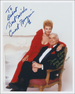 ERNEST BORGNINE - AUTOGRAPHED INSCRIBED PHOTOGRAPH CO-SIGNED BY: TOVE BORGNINE