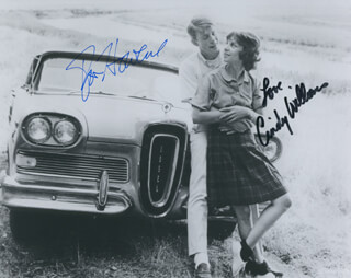 AMERICAN GRAFFITI MOVIE CAST - AUTOGRAPHED SIGNED PHOTOGRAPH CO-SIGNED BY: RON HOWARD, CINDY WILLIAMS