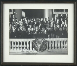 PRESIDENT FRANKLIN D. ROOSEVELT - AUTOGRAPHED SIGNED PHOTOGRAPH 01/20/1941 CO-SIGNED BY: VICE PRESIDENT HENRY A. WALLACE, CHIEF JUSTICE CHARLES E HUGHES, CORDELL HULL, CHARLES ELMORE CROPLEY