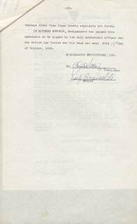 KEEFE BRASSELLE - CONTRACT MULTI-SIGNED 10/19/1956