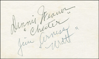 GUNSMOKE TV CAST - AUTOGRAPH CO-SIGNED BY: DENNIS WEAVER, JAMES ARNESS