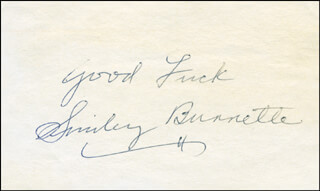 SMILEY (LESTER) BURNETTE - AUTOGRAPH SENTIMENT SIGNED