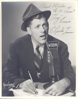 CHARLIE GRIMM - AUTOGRAPHED INSCRIBED PHOTOGRAPH