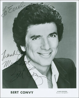 BERT CONVY - INSCRIBED PRINTED PHOTOGRAPH SIGNED IN INK