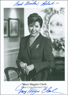 MARY HIGGINS CLARK - AUTOGRAPHED INSCRIBED PHOTOGRAPH