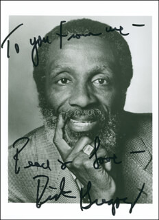 DICK GREGORY - AUTOGRAPHED SIGNED PHOTOGRAPH