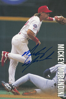 MICKEY MORANDINI - AUTOGRAPHED SIGNED PHOTOGRAPH