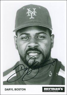 DARYL BOSTON - AUTOGRAPHED SIGNED PHOTOGRAPH