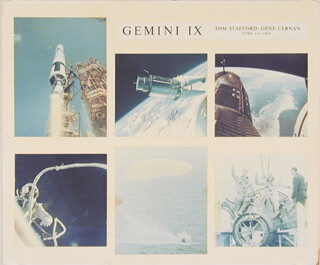 GEMINI IX CREW - AUTOGRAPHED INSCRIBED PHOTOGRAPH CO-SIGNED BY: CAPTAIN GENE CERNAN, LT. GENERAL THOMAS P. STAFFORD