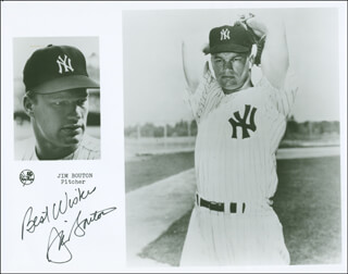 JIM BOUTON - AUTOGRAPHED SIGNED PHOTOGRAPH