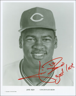 JOSE RIJO - AUTOGRAPHED SIGNED PHOTOGRAPH
