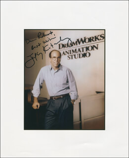 JEFFREY KATZENBERG - AUTOGRAPHED INSCRIBED PHOTOGRAPH