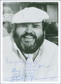 PAUL PRUDHOMME - AUTOGRAPHED INSCRIBED PHOTOGRAPH