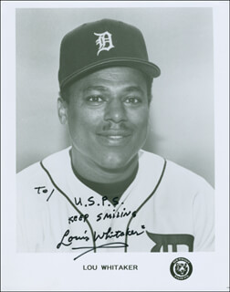 LOU SWEET LOU WHITAKER - AUTOGRAPHED INSCRIBED PHOTOGRAPH