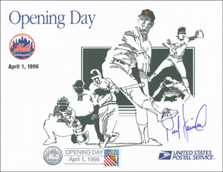 PETE HARNISCH - COMMEMORATIVE PHILATELIC SHEET SIGNED