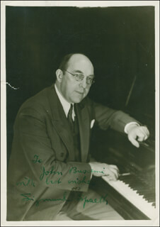 SIGMUND SPAETH - AUTOGRAPHED INSCRIBED PHOTOGRAPH