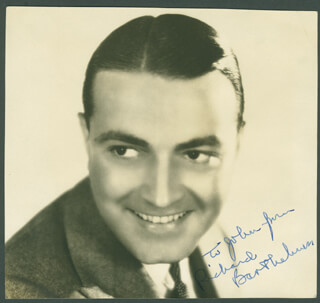 RICHARD BARTHELMESS - AUTOGRAPHED INSCRIBED PHOTOGRAPH