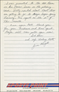 JIM WRIGHT - AUTOGRAPH LETTER SIGNED 02/10/1988