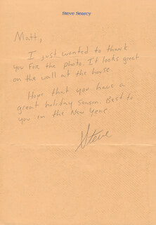 STEVE SEARCY - AUTOGRAPH LETTER SIGNED