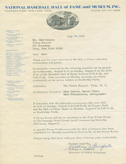 WILLIAM J. GUILFOILE - TYPED LETTER SIGNED 07/24/1979