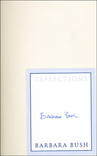 FIRST LADY BARBARA BUSH - BOOK SIGNED